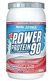 Body Attack Power Protein 90, Crema de cereza y yogur, 1 kg, 5 K de proteína en polvo con proteína...