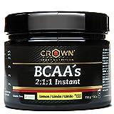 Crown Sport Nutrition BCAA 2:1:1 Instant, aminoácidos ramificados de disolución instantánea para...
