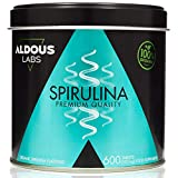 Espirulina Ecológica Premium para 9 Meses | 600 comprimidos de 500mg con 99% BIO Spirulina | Vegano...
