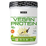 Weider Vegan Protein, sabor vainilla, proteína 100% vegetal de guisantes (PISANE) y arroz, sin...