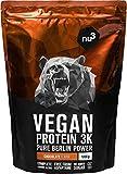 nu3 - Proteína vegana 3K - 1kg de fórmula - 70% de proteína a base de 3 componentes vegetales -...