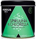Chlorella y Espirulina Ecológica Premium para 6 meses | 600 comprimidos de 500mg | Vegano -...