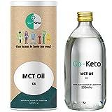 Go-Keto MCT Aceite, 500 ml | Aceite MCT C8 prémium, 100% de aceite de coco sin aceite de palma |...