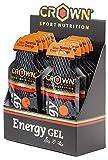 Crown Sport Nutrition Gel Energético - con o sin Cafeína - 12 unidades Carbohidratos en ratio...