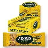 Adonis Low Sugar - Barritas de Nueces del Brasil Crujiente sabor Cúrcuma y Naranja | 100% Natural,...
