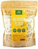 Harina de almendra 1kg   Sin gluten 100%   Extrafina Natural Blanqueada apta para dietas Keto,...