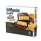 BiManán beFIT - Barritas de Proteína Sabor Chocolate Naranja, para Tonificar tu Masa Muscular -...