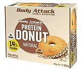 Body Attack Protein Donut, Natural (15 x 60g) Caja,13% de proteína de huevo y proteína de suero de...