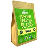 BodyMe Mezcla de Proteina Vegana Organica en Polvo | Naked Natural | 1kg | Sin Edulcorante | Baja...