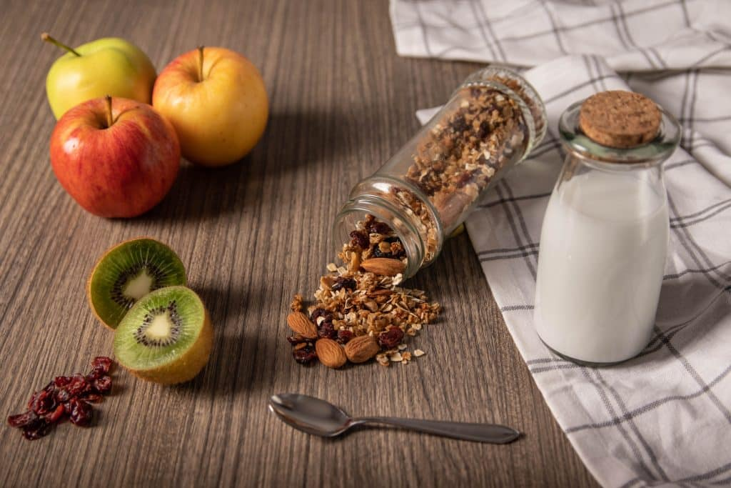 Receta de frutas con yogurt griego