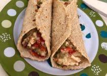 Tacos de avena y pollo