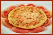 Tortillas horneadas con zanahoria y atún