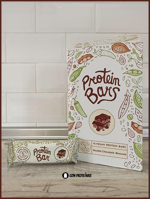 barras veganas de proteína Alpha Foods